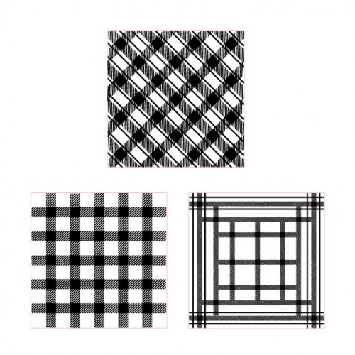 Plaid Stamp Set 2 - Rubber Stamps