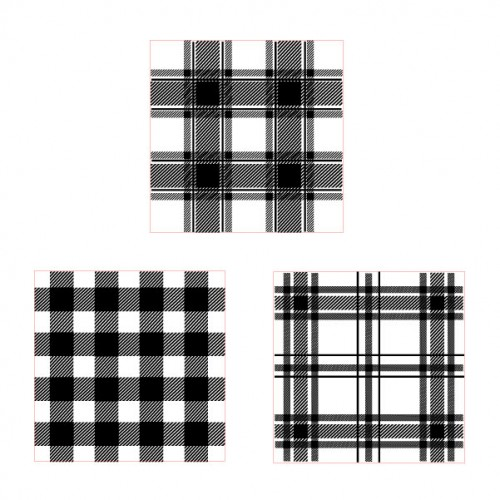 Plaid Stamps Set 1 - Rubber Stamps