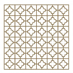 Quatrefoil/Square Panel