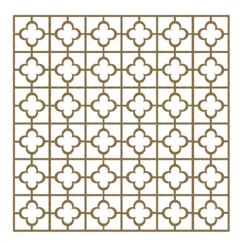 "Quatrefoil/Square Panel - 6"" x 6"" Lattice Panels"