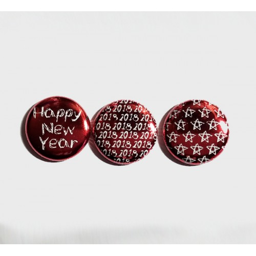 Happy New Year 2018 (red solid) Flair - Flair