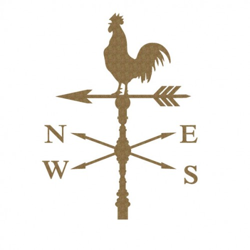 Rooster Weathervane - Chipboard
