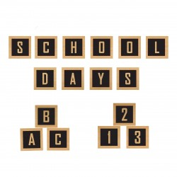 School Days Wood Blocks