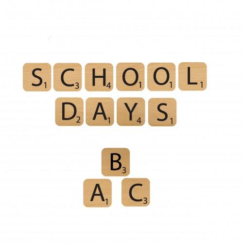 School Days Game Pieces - Wood Veneers
