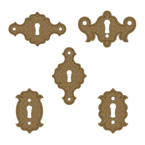 Simple Key Hole Plates - Chipboard