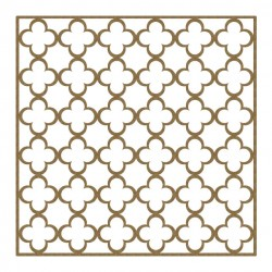 Simple Quatrefoil Panel