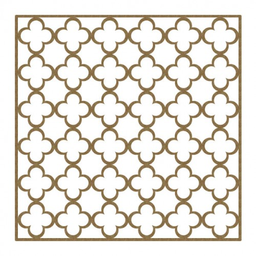 "Simple Quatrefoil Panel - 6"" x 6"" Lattice Panels"