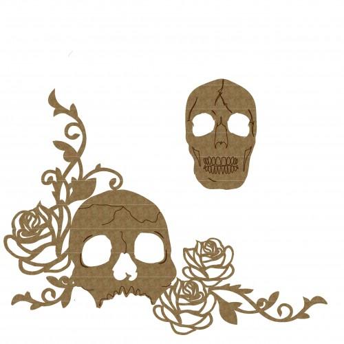 Skull Flourish Corner Set - Flourishes
