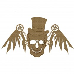 Steampunk Skull with Wings