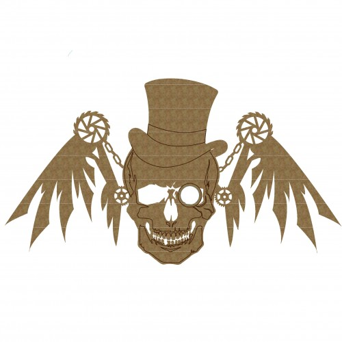Steampunk Skull with Wings - Steampunk