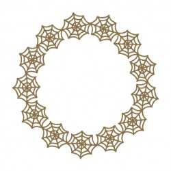 Spider Web Circle Frame