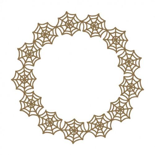 Spider Web Circle Frame - Halloween