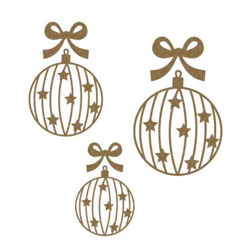 Star Bulb Ornaments - Christmas