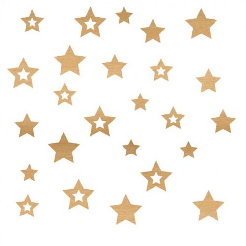 Stars - Wood Veneers