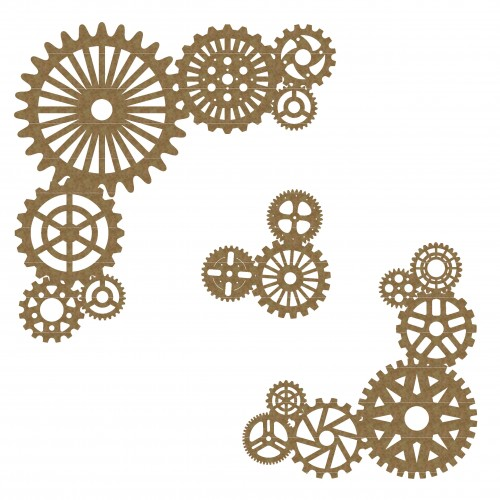 Steampunk Gear Corners 2 - Steampunk