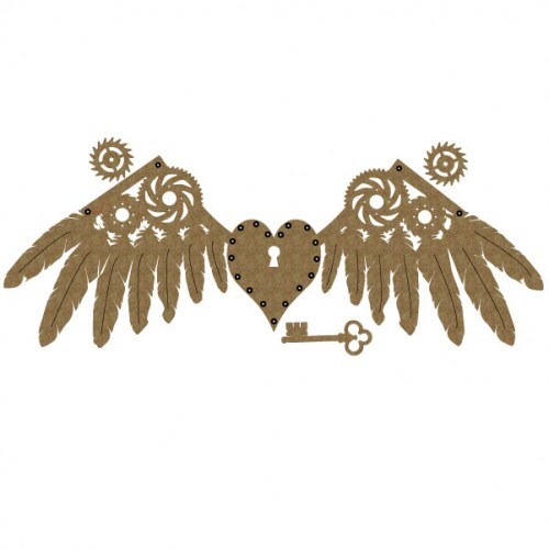 Steampunk Heart and Wings - Steampunk