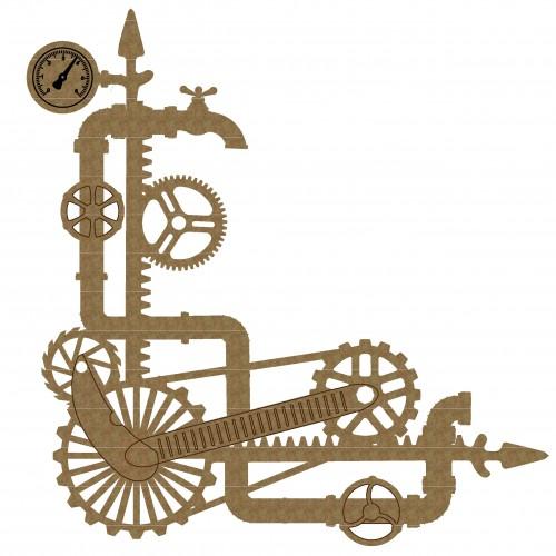 Steampunk Pipe Corner - Photo / Page Corners