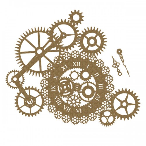 Steampunk Clock and Gear Cluster - Steampunk