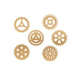 Steampunk Gears  (Set of 6)