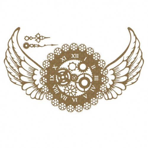 Steampunk Timepiece with Wings - Steampunk