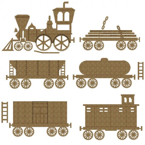 Train Set - Chipboard