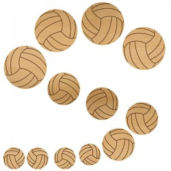 Volleyball Wood Set