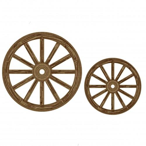 Wagon Wheels - Chipboard