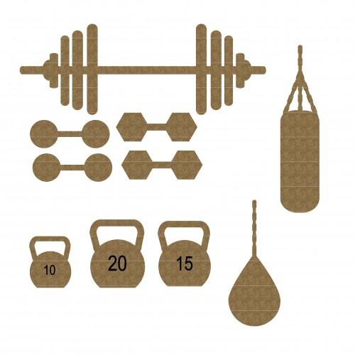 Fitness Set - Chipboard