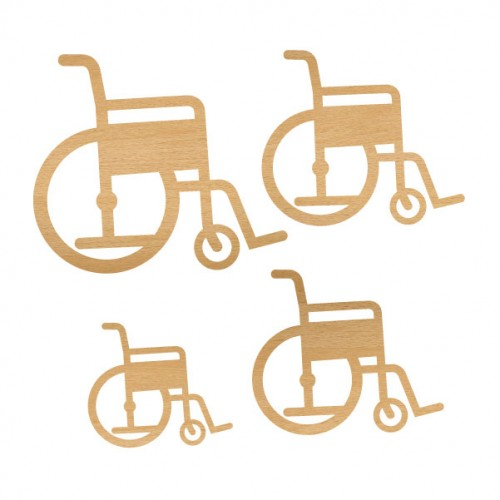 Wheelchair Set 1 - Wood Veneers