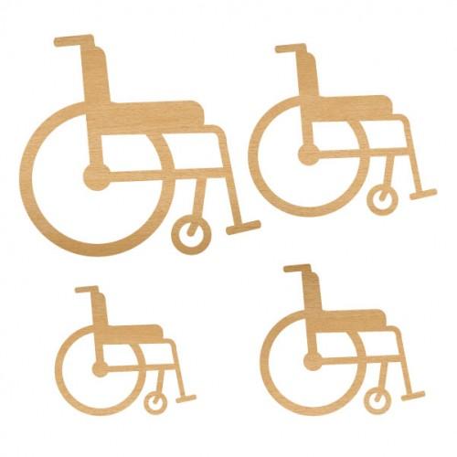 Wheelchair Set 2 - Wood Veneers