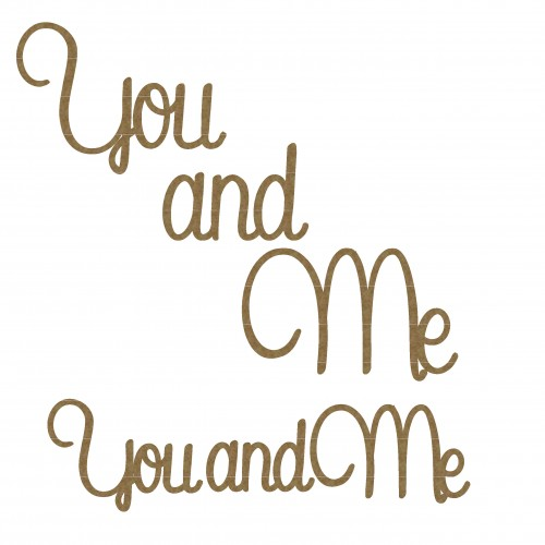 You and Me Title - Words