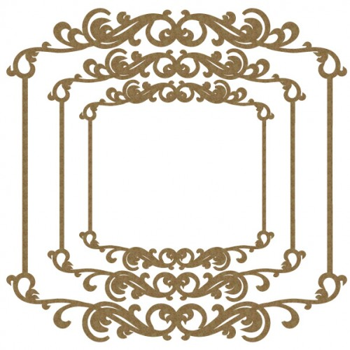 Delicate Flourish Frames - Frames