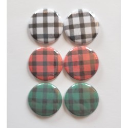 Buffalo Check Flair Buttons