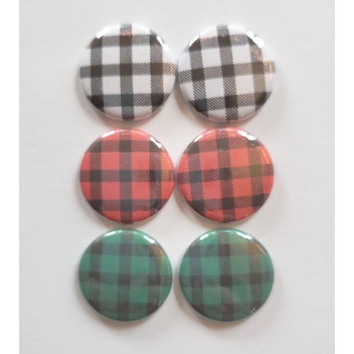Buffalo Check Flair Buttons - Flair