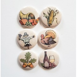 Vintage Fall Flair Buttons