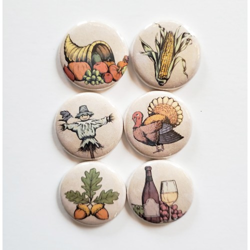 Vintage Fall Flair Buttons - Flair