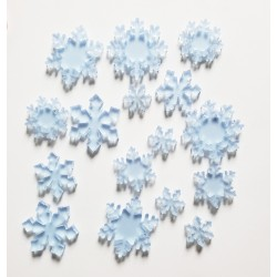Frosted Blue Acrylic Snowflakes