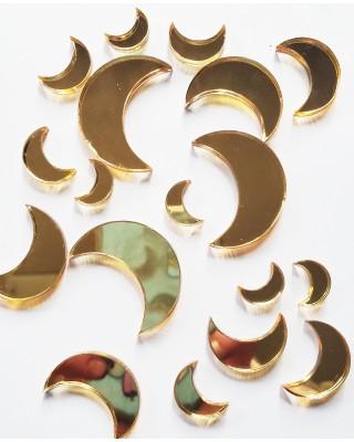 Mirrored Gold Moon Set
