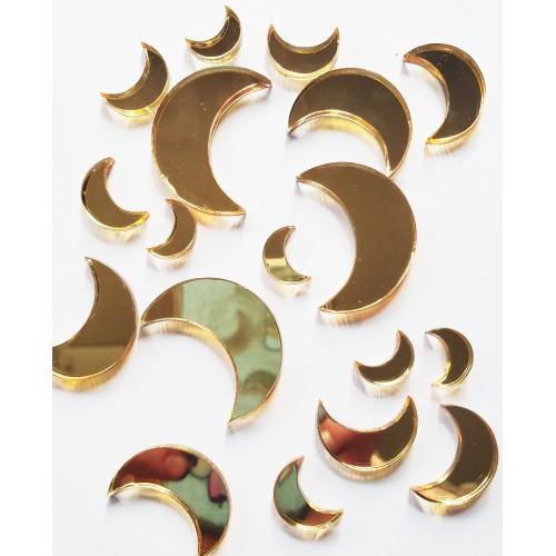Mirrored Gold Moon Set - Acrylic