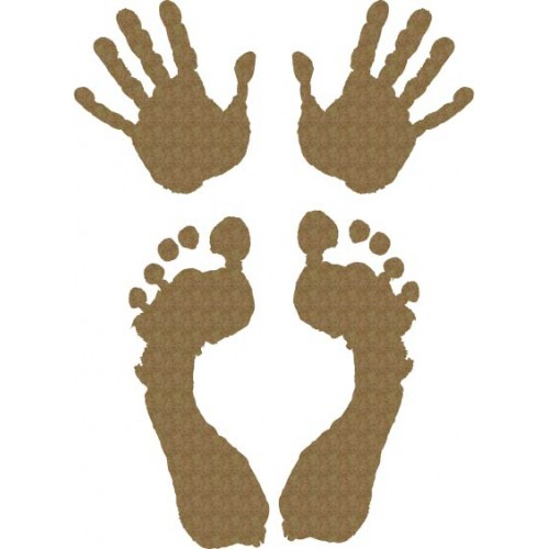 Hands and Feet - Chipboard