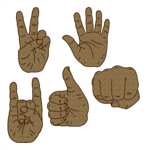 Hand Signs - Chipboard
