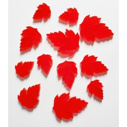 Red Acrylic Leaves 2