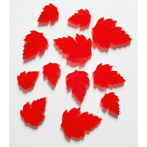 Red Acrylic Leaves 2 - Acrylic