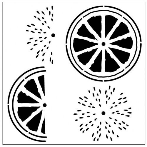 Lemon Slice Stencil - Stencils