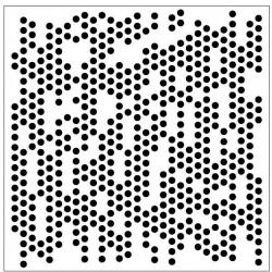 Small Circles Stencil
