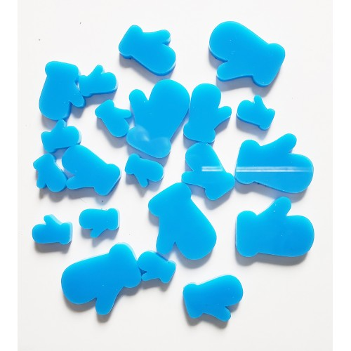 Blue Mittens - Acrylic