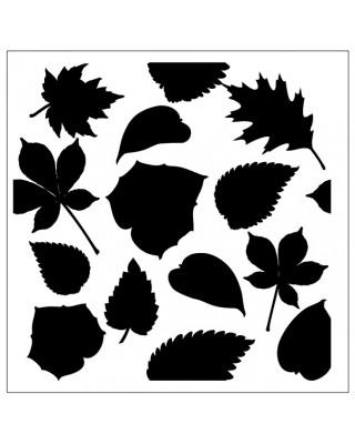Multi Leaves Stencil