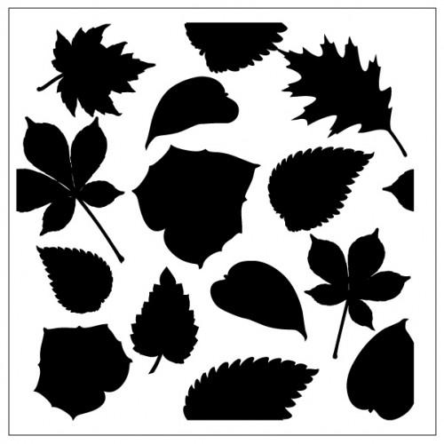Multi Leaves Stencil - Stencils