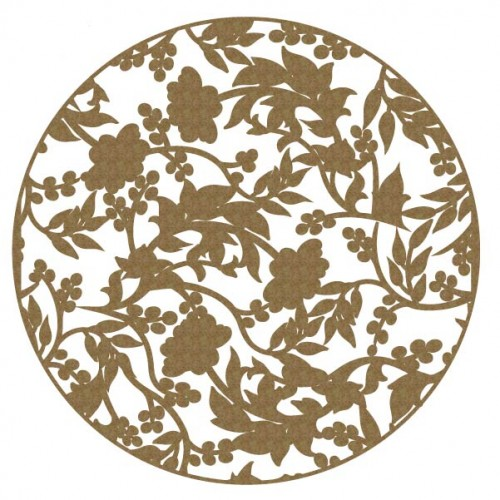 Floral Circle 2 - Chipboard