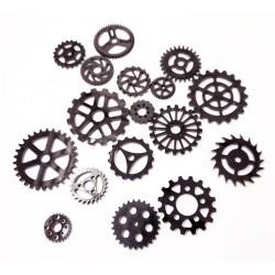 Acrylic Gears Black